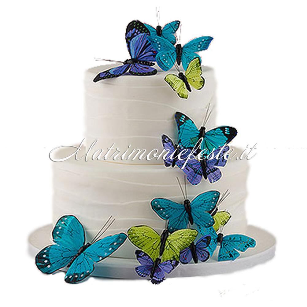 Amato Cake Topper - Farfalle Decorative (24 pz) | Articoli Addobbi e  PR84