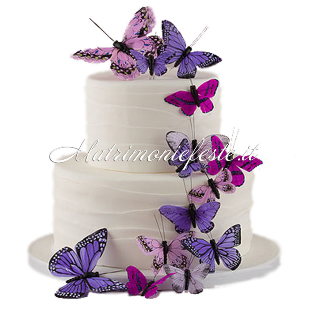 Preferenza Cake Topper - Farfalle Decorative (24 pz) | Articoli Addobbi e  UV92